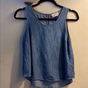 NWOT chambray blouse